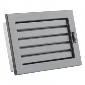 Вентиляционная решетка V с подвижными жалюзи KRVZ 240х170 черная Ventlab