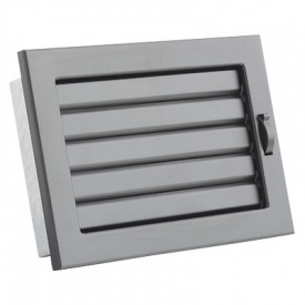 Вентиляционная решетка V с подвижными жалюзи KRVZ 200х145 черная Ventlab