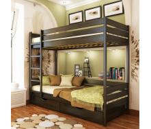 Деревянная кровать двухъярусная Эстелла Дуэт 106 80x190 см венге-106