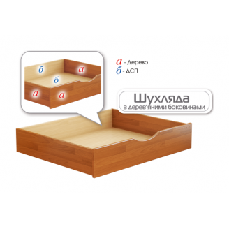 Шухляда для білизни Естелла з дерев'яними боковинами 980x800x180 мм щит