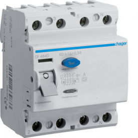 УЗО 4P 100А 300мА тип A CF484D Hager