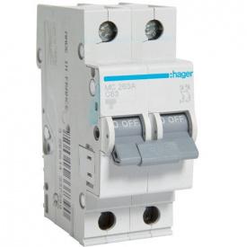 Автоматический выключатель 2p 63А С MC263A Hager