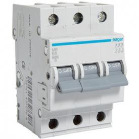 Автоматичний вимикач Hager 50 А, 3п, В MB350A