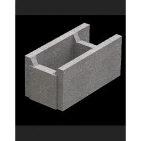 Блок незнімної опалубки пустотний бетонний 510х250х235