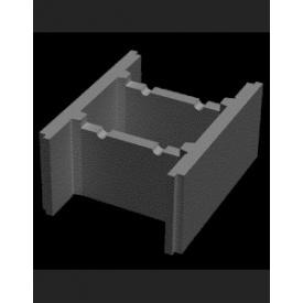 Блок незнімної опалубки пустотні бетонний 510х400х235