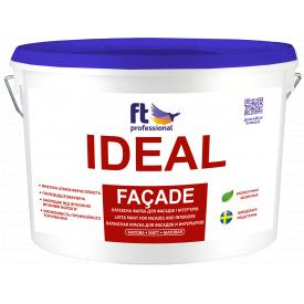 IDEAL FACADE 10 л атмосферостойкая латексная краска для фасада и интерьера