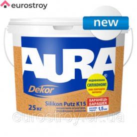 Штукатурка силиконовая барашек Aura Dekor Silikon Putz 1,5 мм 25 кг