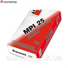 Штукатурка для внутренних и наружных работ белая Baumit MPI 35 25 кг