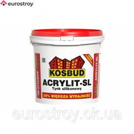 Штукатурка силиконовая Kosbud Baranek SL светлая зерно 1,5 мм 25 кг