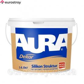 Краска структурная Aura Dekor Silikon Struktur 14,8 кг