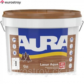 Средство защиты для дерева Aura Lasur Aqua белая 0,75 л AURA