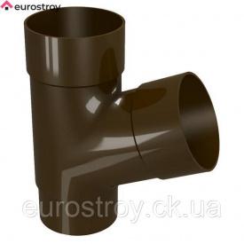 Тройник трубы 67,5 80 коричневый Devorex Classic 120