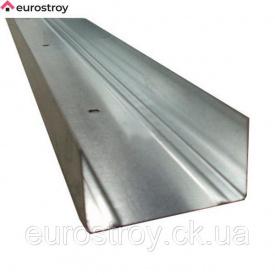 ГКС Профіль направляючий UW-50 4 м 1/12 шт Гіпс + сталь
