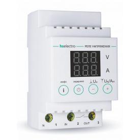 Реле напряжения с контролем тока HS-electro 40A