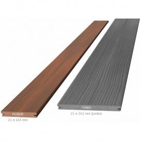 Террасная доска композитная Megawood Signum Jumbo 21x242x6000 шовная