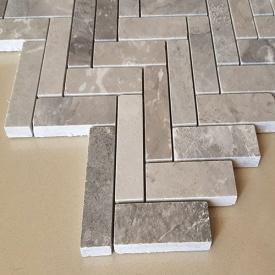 Мармурова мозаїка Silver Grey панно з мармуру