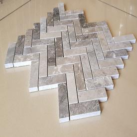 Мозайка мраморная Silver Grey заполненный, состаренный, 26.5х30.5х1 см