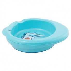 Набір дитячого посуду Chicco Термостійка тарілка з 6 місяців блакитна (16000.20)