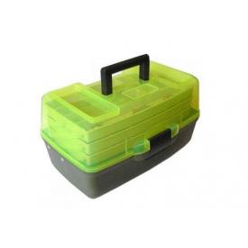 Ящик для снастей AQT-1703T трехъярусный с прозрачной крышкой 36х21.5х19.5 см