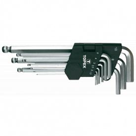 Набор инструментов Topex ключи шестигранные HEX 1.5-10 мм 9 шт 1 уп (35D957)