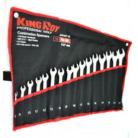 Набір ключів рожково-накидних 16 шт KING ROY KRTRP-16 сумка