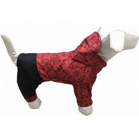 Дождевик для собак Dogs Bomba для маленьких собак 5 Звезды красные (M-38/5)