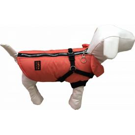 Жилет со шлеей для собак Dogs Bomba для маленьких собак 2 Оранж GS-5/2