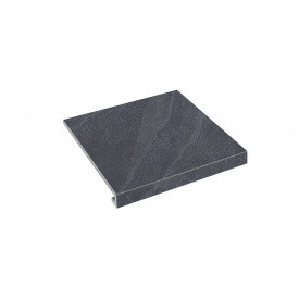 Ступенька угловая правая Zeus Ceramica Slate black 30x34,5 см (SZRXST9RC2)