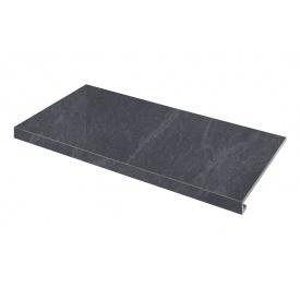 Ступенька угловая левая Zeus Ceramica Slate black 60x34,5 см (SZRXST9RR1)