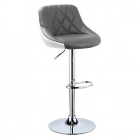 Барный стул Berlin BS187 Серый с белым