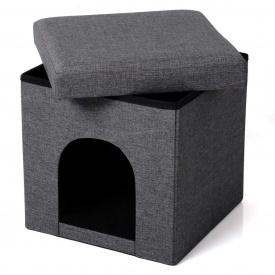 Пуфик складной ящик для хранения Woltu SH-13 Серый