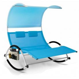 Шезлонг, лежак садовый кресло для отдыха Kesser KE-15556 Синий