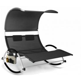 Шезлонг, лежак садовый кресло для отдыха Kesser KE-15556 Темно-серый