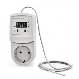 Терморегулятор регулятор температуры цифровой в розетку DEUS Electro ТР-16 Р 16 А 220 В