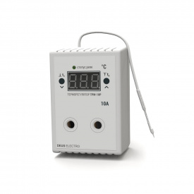 Терморегулятор регулятор температуры цифровой в розетку DEUS Electro ТРМ-10 Р 10 А 220 В