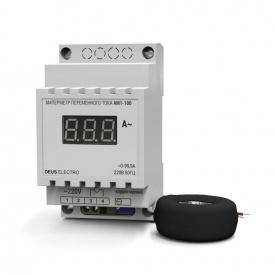 Амперметр змінного струму однофазний цифрової на DIN-рейку DEUS Electro АМ 1-100 220 В 0-100 А