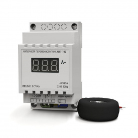 Амперметр змінного струму однофазний цифрової на DIN-рейку DEUS Electro-АМ-1-300 220 В 0-300 А