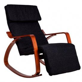 Кресло качалка GoodHome 03 WALNUT 120кг