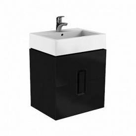 TWINS шкафчик под умывальник 60 см с двумя ящиками черный матовый KOLO Польша 89494000
