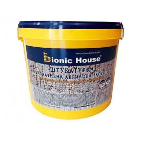 Декоративная штукатурка Короед зерно 2-3 мм смесь для обработки минеральных фасадов
