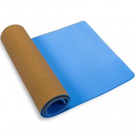 Коврик, мат для йоги и фитнеса USA Style LEXFIT, LKEM-3086A-0,8