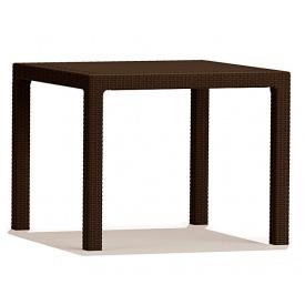 Стол из искуственного ротанга Keter Melody Quartet, коричневый (7290103666132)