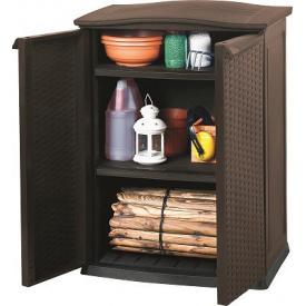 Ящик для хранения Keter RATTAN STYLE - BASE SHED Compact Garden 230 л, коричневый
