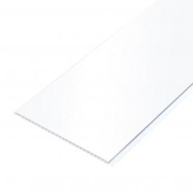 Белая панель ПВХ пластиковая вагонка для стен и потолка RL 3071 Белый лак