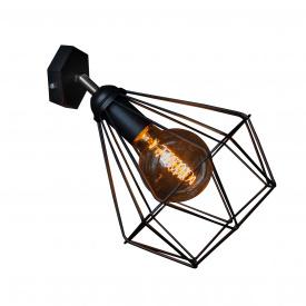 Світильник настінний бра MSK Electric Loft Е-27 метал, чорний (NL 0537-1)