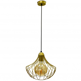 Светильник подвесной в стиле лофт MSK Electric Е27 металл (NL 2825 G)