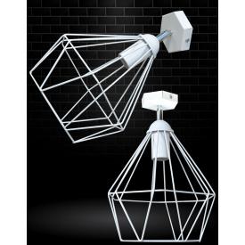 Світильник настінний бра MSK Electric Loft Е-27 метал, білий (NL 0537-1W)