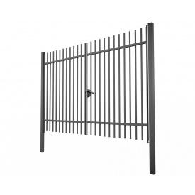 Ворота распашные Дзен стандарт 3х1.5 сварные из металлопрофиля
