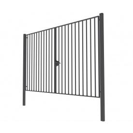 Ворота распашные Дзен стандарт 4х2 сварные из металлопрофиля
