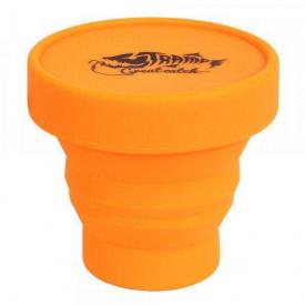 Стакан складной силиконовый с крышкой Tramp 180мл TRC-083, оранжевый